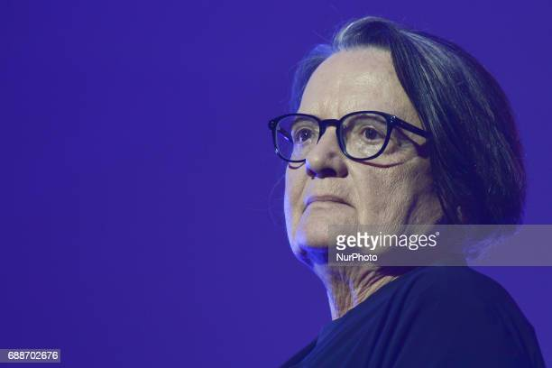 Agnieszka Holland a Polish film and TV director and screenwriter during the closing gala of NETIA OFF CAMERA International Festival of Independent...