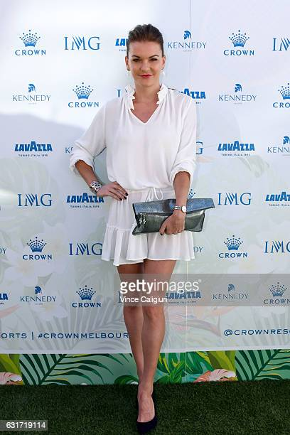 Agnieszka Radwanksa of Poland arrives at the 2017 Australian Open party at Crown on January 15 2017 in Melbourne Australia
