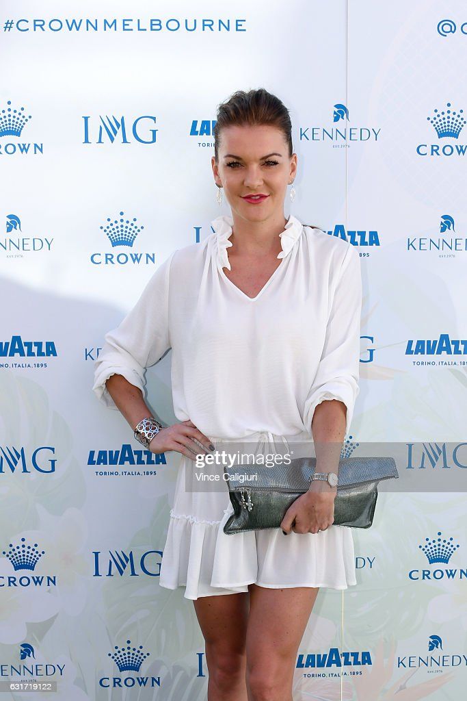 Agnieszka Radwanksa of Poland arrives at the 2017 Australian Open party at Crown on January 15, 2017 in Melbourne, Australia.