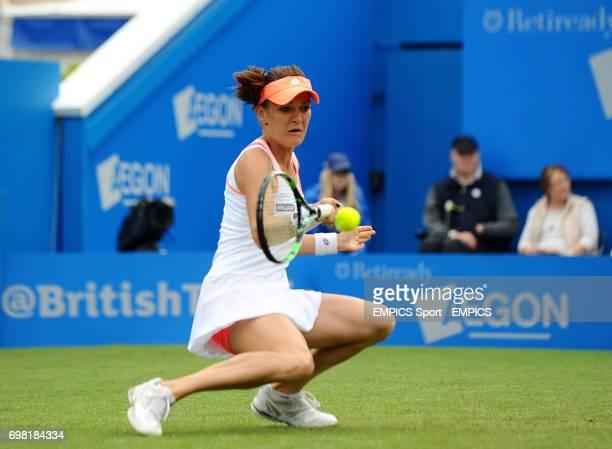 Agnieszka Radwanska in action against Anastasia Pavlyuchenkova during the AEGON International at Devonshire Park Eastbourne