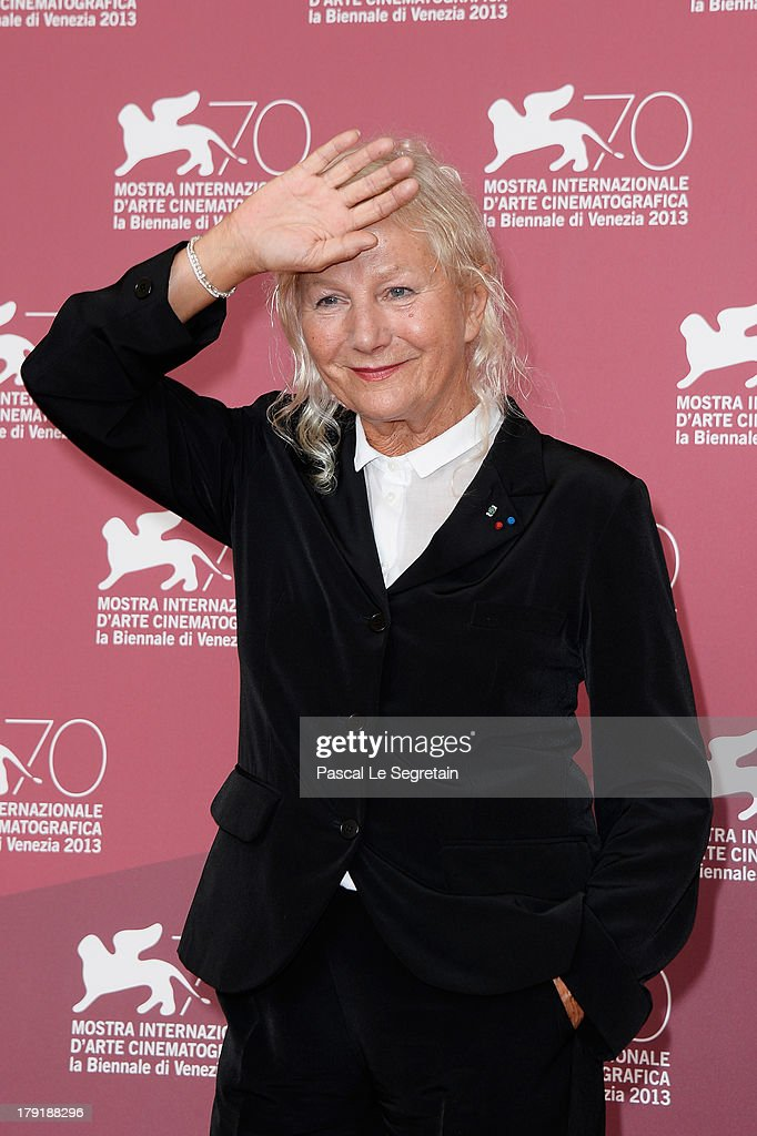 Agnès b. attends 'Je M'Appelle Hmmm...' Photocall during the 70th Venice International Film Festival at the Palazzo Del Casino on September 1, 2013 in Venice, Italy.