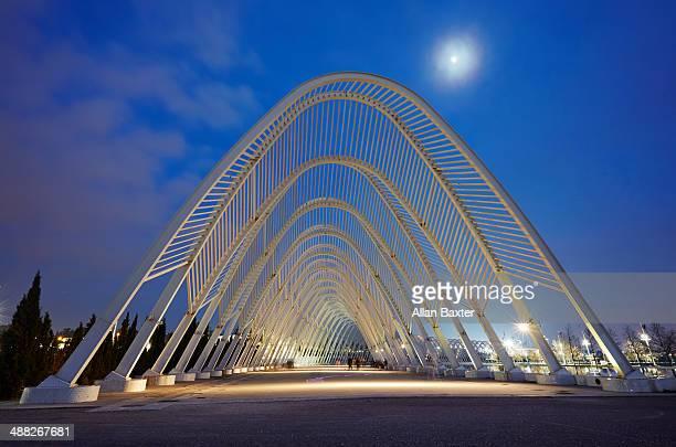Agora promenade at moonlight at night