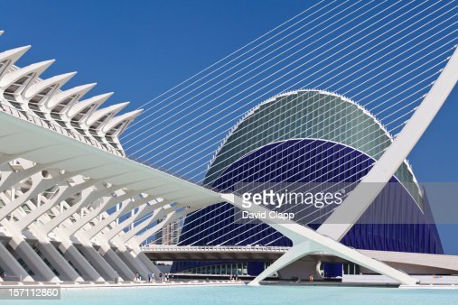 Agorra and suspension bridge, Valencia, Spain : Stock Photo