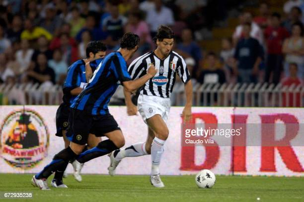 Zlatan Ibrahimovic of Juventus FC in action during Trofeo Moretti with Napoli Juventus and Inter of Milan friendly match played at San Paolo stadium...