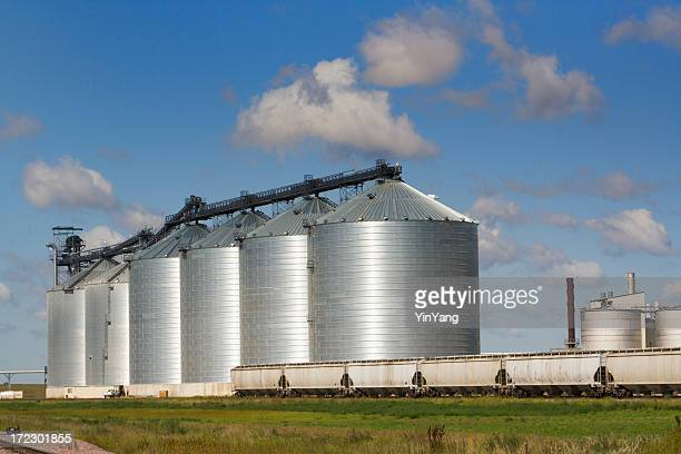 Agricultural Cereal Silo in Food Processing Industry with Train Transportation