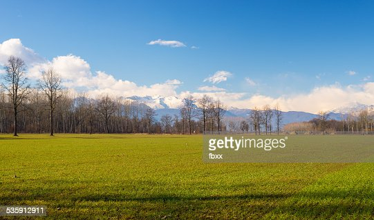 La agricultura Todo el arco alpino : Foto de stock