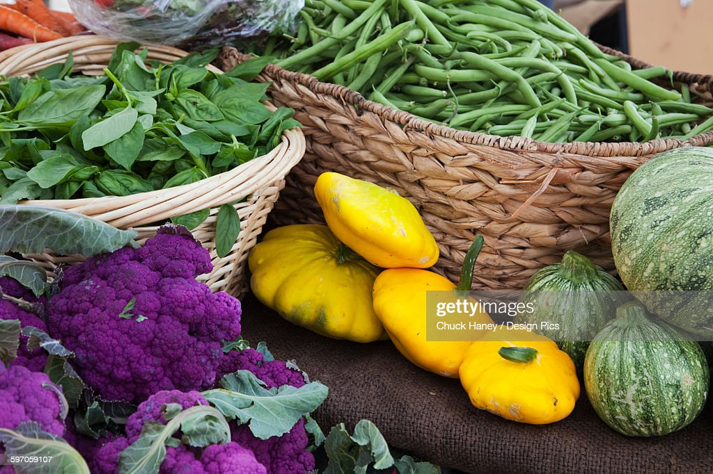 Agriculture - Fresh organic produce at a farmers market