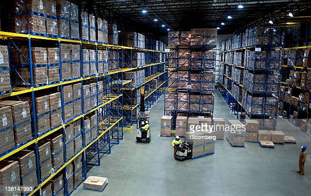 AgroFarma Inc employees prepare to ship cases of yogurt at a facility in New Berlin New York US on Tuesday Jan 31 2012 AgroFarma Inc manufactures...