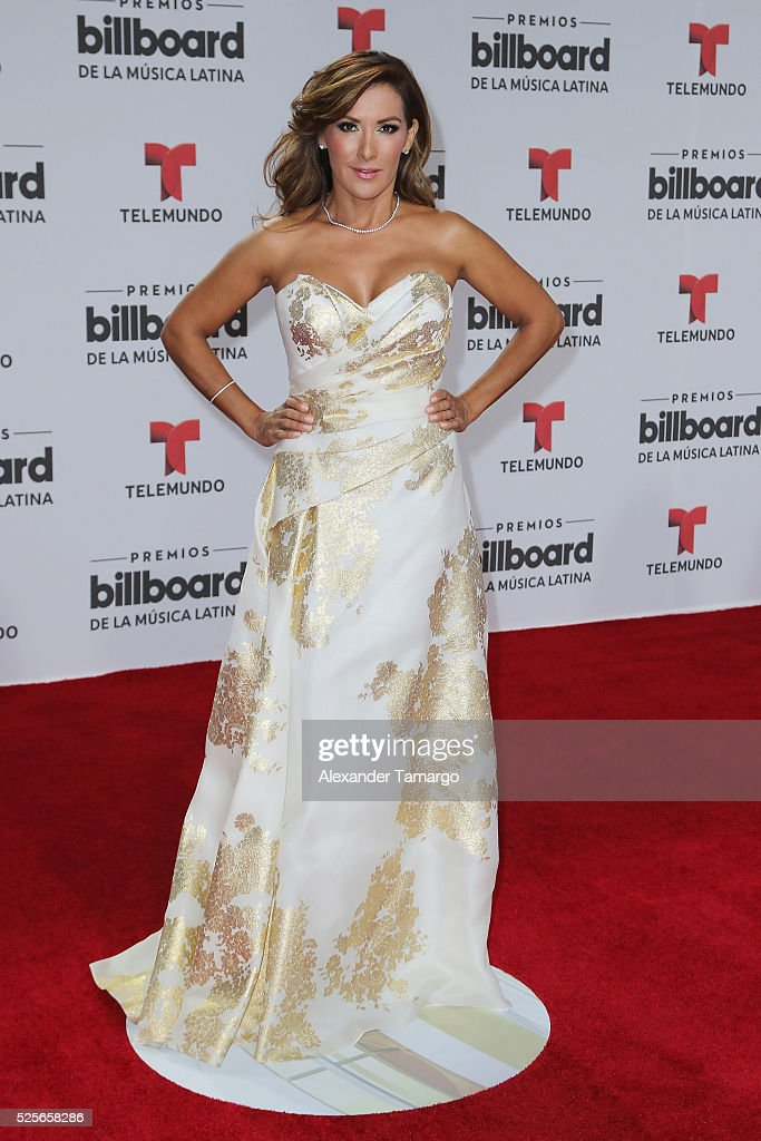 Agucena Cierco attends the Billboard Latin Music Awards at Bank United Center on April 28, 2016 in Miami, Florida.