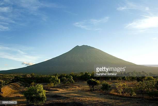 Agung mountain from Tulamben, Bali