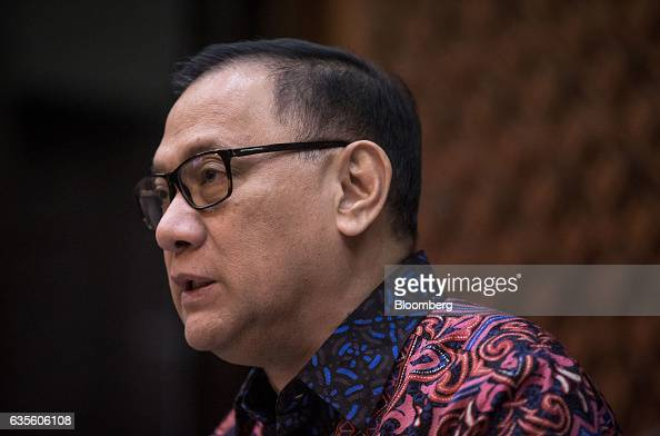 Agus Martowardojo governor of Bank Indonesia speaks during a news conference following the central bank's rate decision meeting in Jakarta Indonesia...