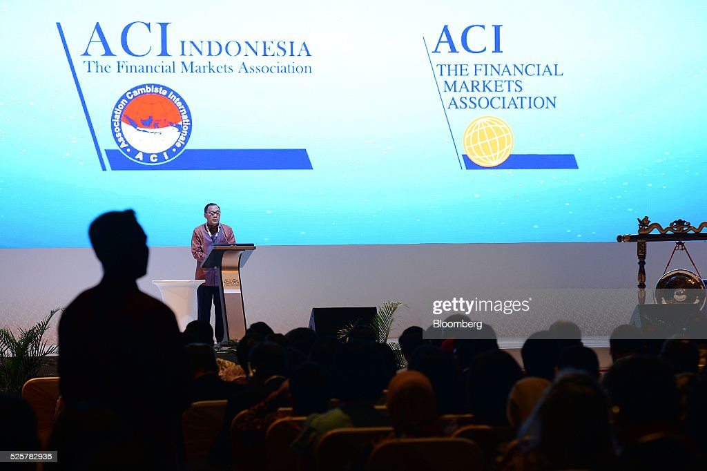 Agus Martowardojo, governor of Bank Indonesia, speaks during the AIC World Congress conference in Jakarta, Indonesia, on Friday, April 29, 2016. The conference runs through April 30. Photographer: Dimas Ardian/Bloomberg via Getty Images