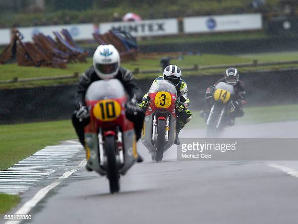Agusta 500/3 entrant Mark Kay ridden by Michael Dunlop William Dunlop in the Barry Sheene Memorial Trophy at Goodwood on September 8th 2017 in...