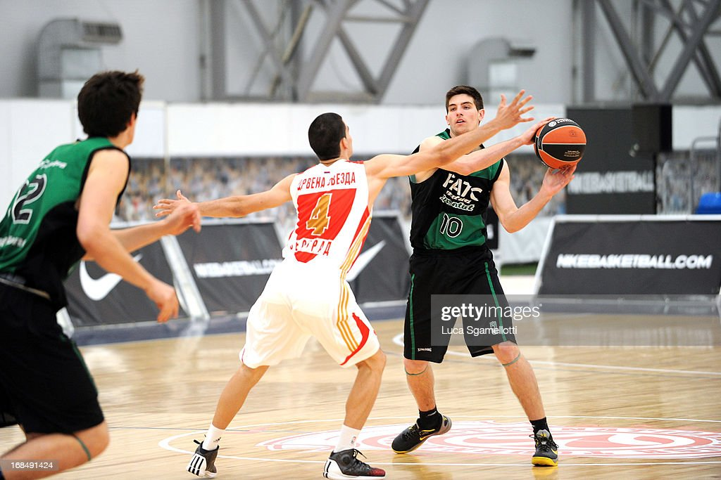 Agusti Sans, #10 of Club Joventut Badalona in action during the Nike International Junior Tournament game between Club Joventut Badalona v Crvena Zvezda Telekom at London Soccerdome on May 10, 2013 in London, United Kingdom.