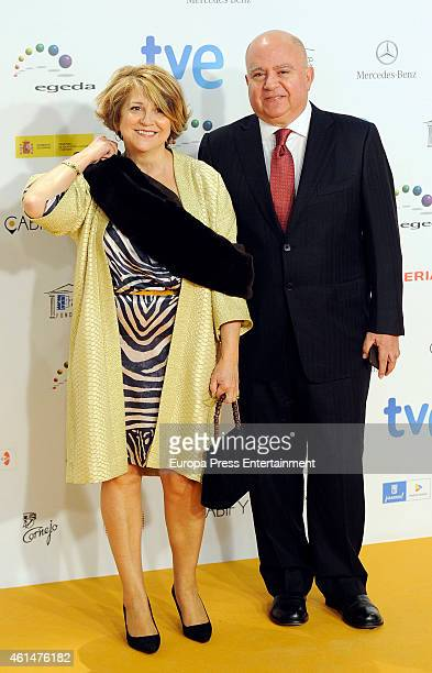 Agustin Almodovar and Esther Garcia attend the 20th Jose Maria Forque cinema awards at Palacio Municipal de Congresos on January 12 2015 in Madrid...