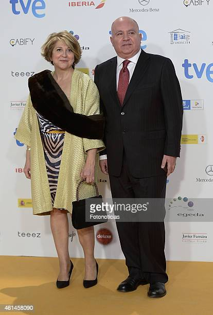 Agustin Almodovar and guest attends the 2015 Jose Maria Forque Awards at The Palacio Municipal de Congresos on January 12 2015 in Madrid Spain