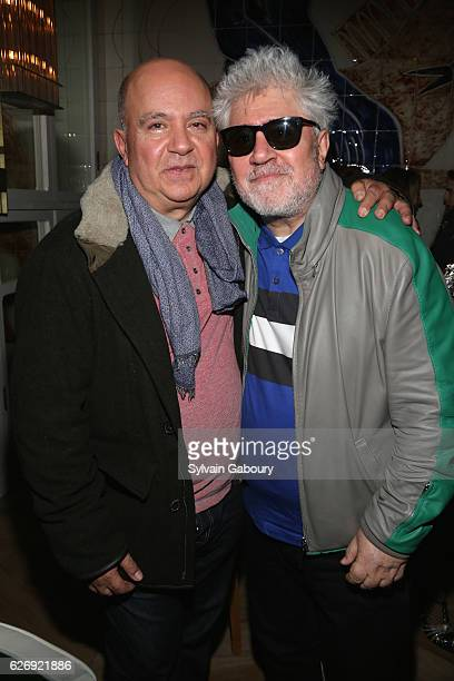 Agustin Almodovar and Pedro Almodovar attend The Cinema Society with Avion and GQ Host the After Party for Sony Pictures Classics' 'Julieta' at Cafe...