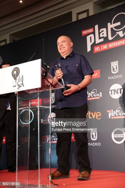 Agustin Almodovar attends Platino Awards 2017 press conference on July 21 2017 in Madrid Spain