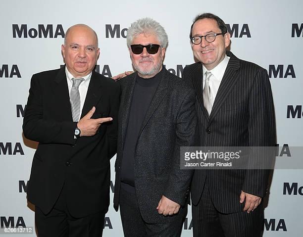 Agustin Almodovar Director Pedro Almodovar and CoPresident of Sony Pictures Classics Michael Barker attend the Pedro Almodovar Retrospective Opening...