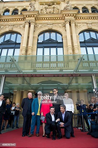 Agustin Almodovar Pedro Almodovar Esther Garcia Leonardo Sbaraglia Damian Szifron Ricardo Darin and Jose Luis Rebordinos attend the 'Relatos...