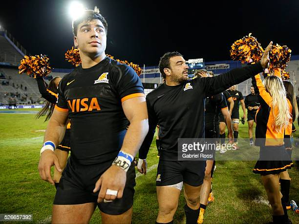 Agustin Creevy of Jaguares greets the public after winning the match between Jaguares and Kings as part of Super Rugby 2016 6 at Jose Amalfitani...