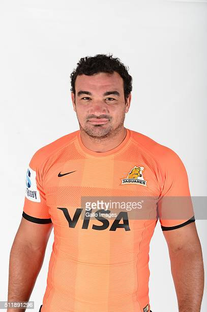 Agustin Creevy poses during the 2016 Jaguares Super Rugby headshots session on February 22 2016 in Johannesburg South Africa