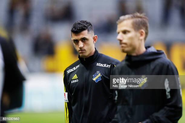 Agustin Gomez of AIK ahead of the Allsvenskan match between AIK and Athletic FC Eskilstura at Friends arena on August 13 2017 in Solna Sweden