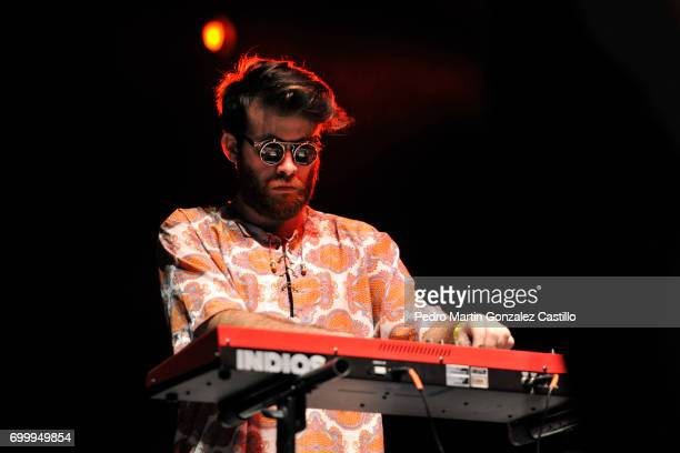 Agustin Majdalani of the band Indios performs during a show as part of the music festival De Vos a Voz at Carpa Astros on June 11 2017 in Mexico City...
