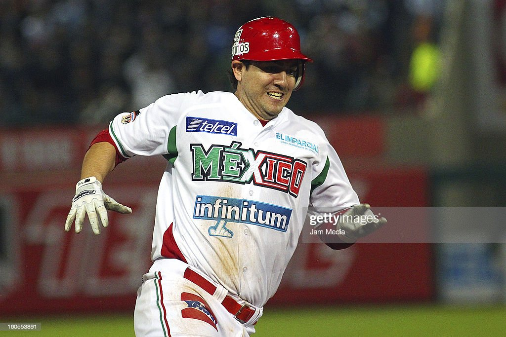 Agustin Murillo of Mexico during the Caribbean Series Baseball 2013 in Sonora Stadium on february 1, 2013 in Hermosillo, Mexico.
