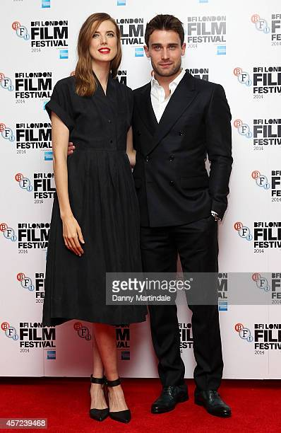 Agyness Deyn and Christian Cooke attends a screening of 'Electricity' during the 58th BFI London Film Festival at Vue West End on October 14 2014 in...