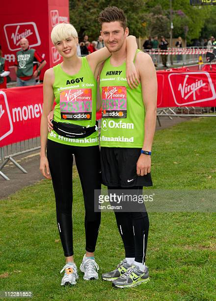 Agyness Deyn and Henry Holland attend the celebrity start of the 2011 Virgin London Marathon at Blackheath on April 17 2011 in London England