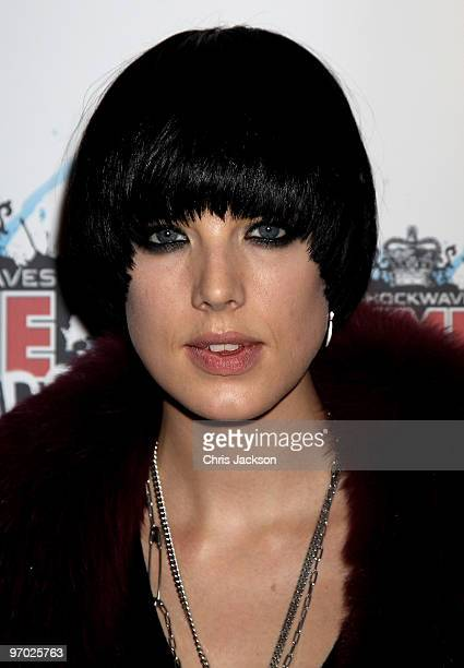 Agyness Deyn arrives at the Shockwaves NME Awards 2010 at Brixton Academy on February 24 2010 in London England
