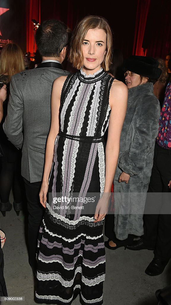Agyness Deyn attends a champagne reception at the London Evening Standard British Film Awards at Television Centre on February 7 2016 in London...