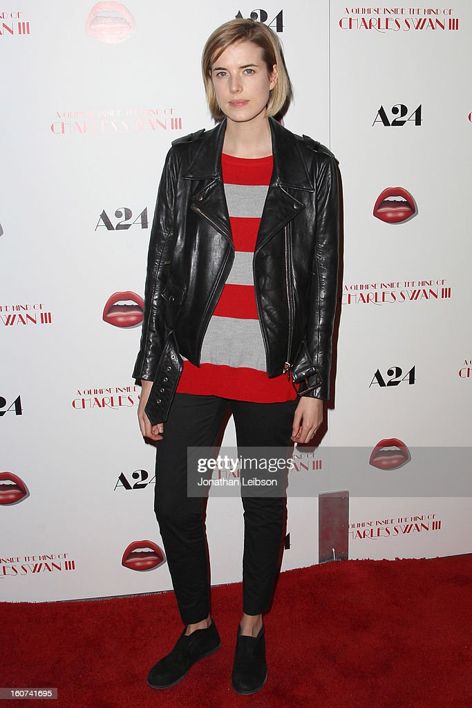 Agyness Deyn attends the 'A Glimpse Inside The Mind Of Charlie Swan III' Los Angeles premiere at ArcLight Hollywood on February 4, 2013 in Hollywood, California.