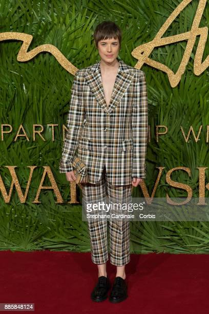 Agyness Deyn attends the Fashion Awards 2017 In Partnership With Swarovski at Royal Albert Hall on December 4 2017 in London England