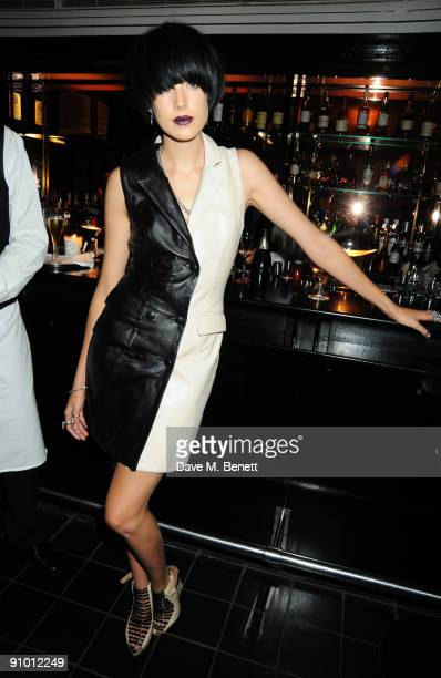 Agyness Deyn attends the private dinner hosted by editor of British Vogue Alexandra Shulman in association with NetAPortercom in honour of 25 years...