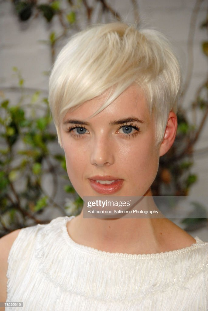 Agyness Deyn attends the Twenty8Twelve by s.miller Spring/Summer 2008 Launch Party at the Gramercy Park Hotel .