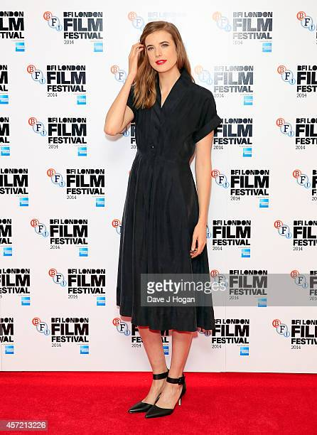 Agyness Deyn attends the world premiere red carpet arrivals of 'Electricity' during the 58th BFI London Film Festival at Vue Leicester Square on...