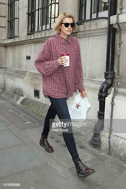 Agyness Deyn sighting on March 24 2012 in London England