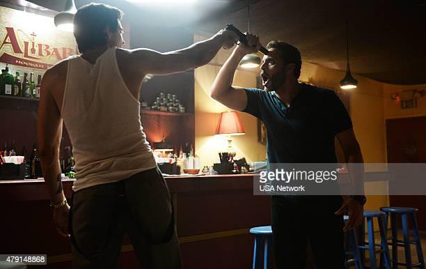 GRACELAND 'Aha' Episode 304 Pictured Rhys Coiro as Ari Daniel Sunjata as Paul Briggs