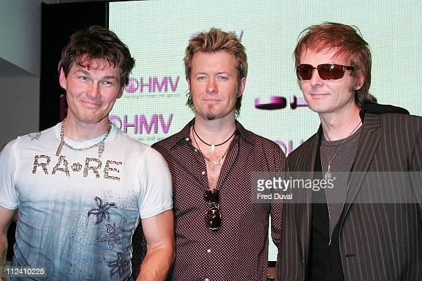 AHa 's singer Morten Harket guitarist Paul WaaktaarSavoy and keyboardist Magne Furuholmen