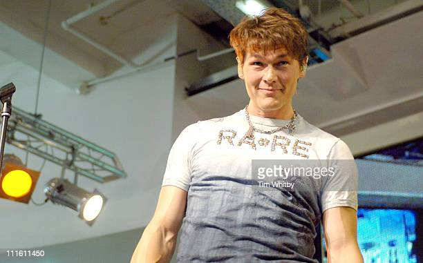 AHa 's singer Morten Morten Harket of AHa during AHa InStore Performance and Album Signing for 'Analogue ' at HMV in London January 30 2006 at HMV...