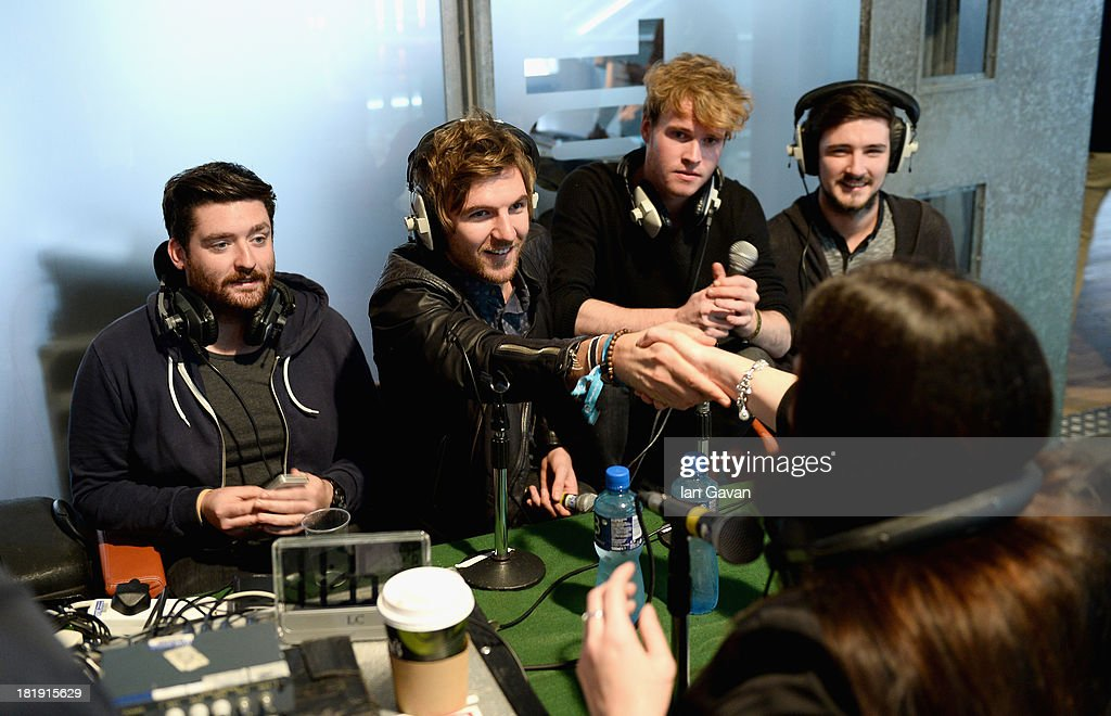 Ahead of the fifth annual Arthur's Day celebrations, Dublin based band Kodaline (L-R) Vinny May, Mark Prendergast, Stephen Garrigan and Jason Boland speak to 2FM Radio at the Guinness Storehouse, which has been transformed into a creative hub showcasing Ireland's talent and creativity across Music, Arts, Food and Sport on September 26, 2013 in Dublin, Ireland. Arthur's Day sees fans come together to experience live music and cultural events in over 500 pubs around Ireland. This year Arthur's Day will spread beyond music to support, promote and showcase Ireland's innovators, artists, poets, writers and culinary experts. It promises to be an extraordinary night, featuring performances from hundreds of home grown acts, rising stars and other internationally renowned artists such as, The Script, James Vincent McMorrow, The Original Rudeboys, Girl Band, Bouts, Le Galaxie, Ham Sandwich, Daley, Manic Street Preachers, Emeli Sande, Janelle Monae, Biffy Clyro, Kodaline, Iggy Azalea and the legendary Bobby Womack. For more information visit www.guinness.com or www.facebook.com/Guinnessireland