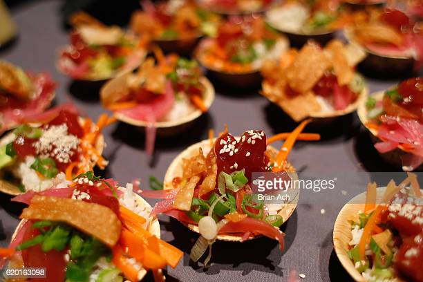 Ahi Tuna from Poke Me on display at the 2016 New York Taste presented by Citi hosted by New York Magazine on November 1 2016 in New York City