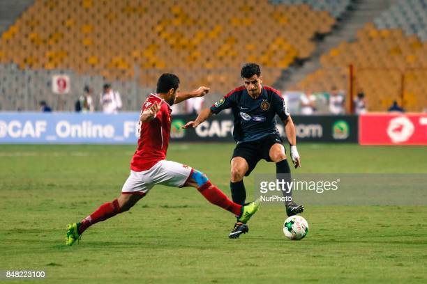 Ahly player Ahmed Fathi during the CAF Champions League quarterfinal firstleg football match between Egypt's AlAhly and Tunisia's Esperance of Tunis...
