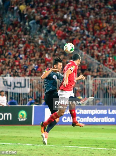 Ahly player Ramy Rabiaa during the CAF Champions League quarterfinal firstleg football match between Egypt's AlAhly and Tunisia's Esperance of Tunis...