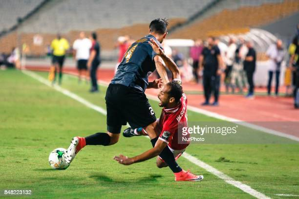 Ahly player Walid Suliman during the CAF Champions League quarterfinal firstleg football match between Egypt's AlAhly and Tunisia's Esperance of...