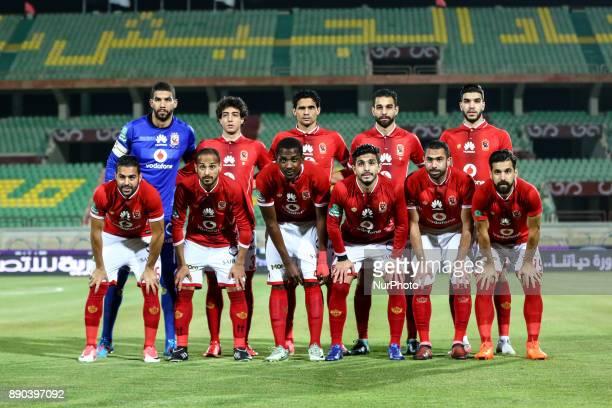 Ahly's team pose prior the Egypt Primer League Fixtures 10 Match Between AlAhly and AlMakksa at Suez Stadium in Suez on 10 December 2017 Al Ahli lose...