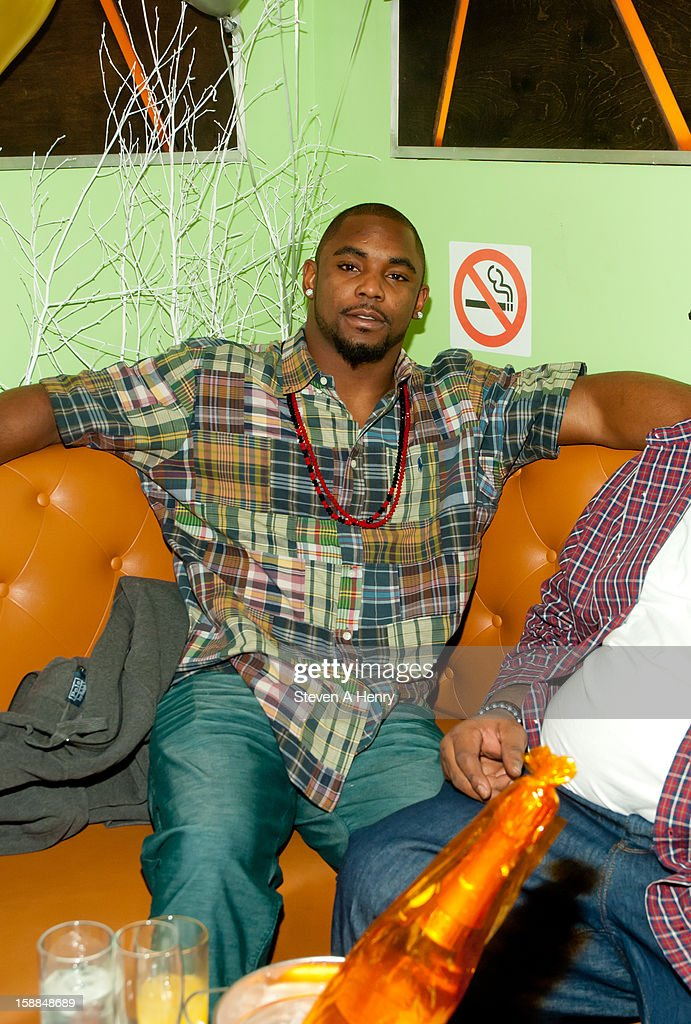 Ahmad Bradshaw of the NY Giants attends New Year's Eve 2013 at Bamboo 52 on December 31, 2012 in New York City.