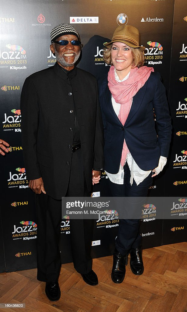 Ahmad Jamal and Cerys Matthews attend the Jazz FM Awards at One Marylebone on January 31, 2013 in London, England.